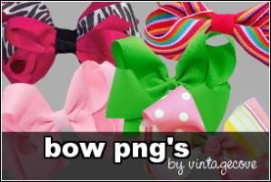 bow png's by vintagecove