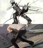 Advent Children Cloud Sketch 6 by Ex-Soldier-Cloud