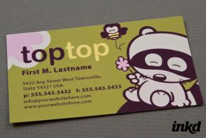 Cute Kids Apparel BusinessCard by inkddesign