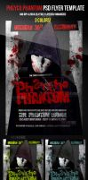 Psycho Phantom Halloween Party Flyer Template by ImperialFlyers