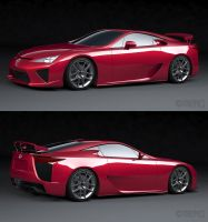 2010 Lexus LF-A WIP 2 by The-IC
