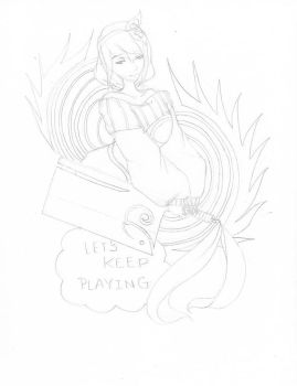 Sketch: Let's keep playing by youngbunnylove