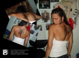 freehand tattoo 3 by p0rkytso