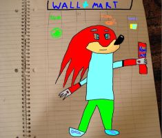 Knuckles at wal-mart by Gogeta504