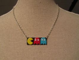 pacman necklace by UndercoverKadaj