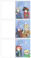 Kingdom Hearts Christmas Cards by Twilight-Deviant
