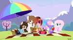 .: Gift :. Having Picnic Together by Mlp-Magical-Melody