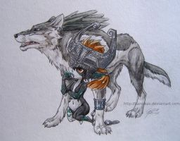 Link and Midna by Karrakas