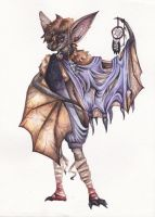 Bat  OC scan by WildCardArt