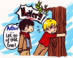 Arthur...Let go of that tree by WhatItMeansToBeHuman