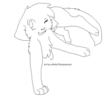 Cat Jumping Lineart by Aruku-Pear