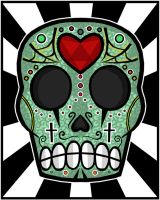 Sugar Skull Sweetheart by MrsStalker