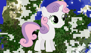 Sweetie Belle Minecraft by TheUnknown644