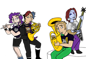 Band Geek Heroes by TromboneGothGirl84