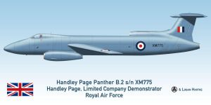 RAF Handley Page Panther B.2 - Farnborough 1955 by comradeloganov
