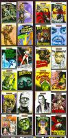 Movie Posters sketch cards by JohnHaunLE