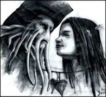 PotC - Davy Jones and Calypso by YanamiChan