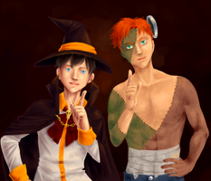 YJ Halloween: Rob and KF by A-nyu-sama