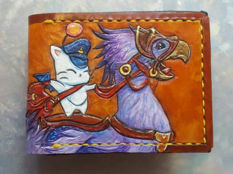 Final Fantasy 14 Chocobo Rider, Leather Wallet by Bubblypies