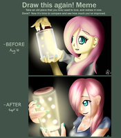 Drawn Again 3 (Fireflies) by budgiesarecool