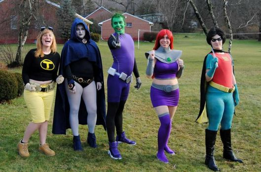 Teen Titans Group by Red-Lilly