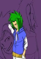 Green Haired Guy by LordofTheSouls