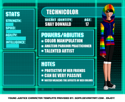 Young Justice OC: Shay profile by CelticProtangonist