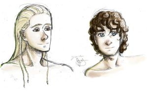 LOTR Doodles by rainbowAttack