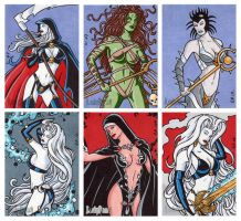 Lady Death Sketch Cards 1 by ElainePerna