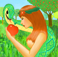 Eve and the forbidden apple by cijo123