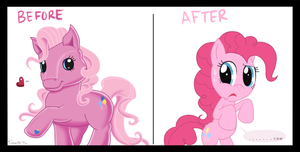My little Pony before and after by Domestic-hedgehog