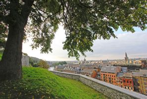 View on Namur from the Citadel-1 by Rea-the-squirrel