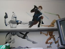 Star wars room DONE :D by DiekeDrake