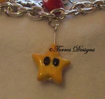 Power Star Charm Super Mario by TorresDesigns