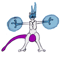 Mewtwo by OperaGhost21