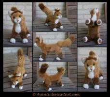 Plushie Commission: Kurt the Cat by Avanii