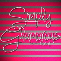 Simply Glamerous Font by imyoungtolove