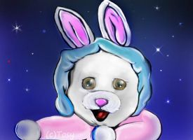The bunny and the stars by Tosita