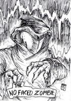 Scooby Doo Sketch Card - The Faceless Zombie by MaestroMorte