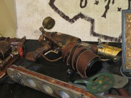 Steampunk Gun and Chainsaw by Ryu-Gi
