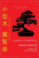 Bonsai Exhibition Poster by suhela