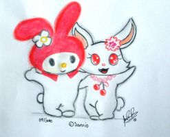 My melody and Ruby by davidcool1989