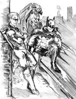 Batman and Arsenal by UnfortunatePrince