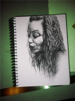 charcoal girl by pitschke
