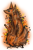 Autumn Fox by Blackwolfpaw