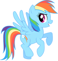 Hovering Rainbow Dash by mandydax