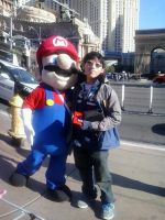 Me With Mario in Nevada by Rotommowtom