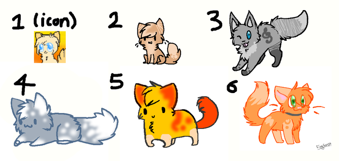 [4/6 Open] 3 Point Kitty Adopties by SimplyDontAsk