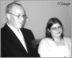 Wedding Day in Black and White by Schnegge82