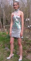 Gum wrapper prom dress by Vanran